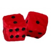 dices for the car - red