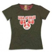 Girlie Shirt 69 'Peace Sign' olive - all sizes