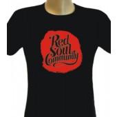 Girlie Shirt 'Red Soul Community' black, sizes S + M