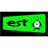 PVC sticker 'EST - Clock - angular'