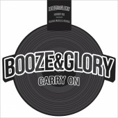 """Booze & Glory 'Carry On' + 'Blood From A Stone'  12"""" Picture Shape Disc - Black Vinyl"""