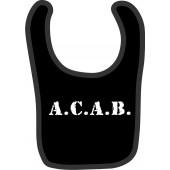 baby bib 'A.C.A.B.' black