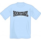 free for orders over 150€: T-Shirt 'Rocksteady - Since 1967' light blue, all sizes