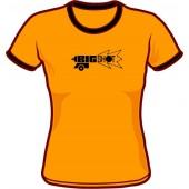 Girlie Shirt 'Big Shot' Ringer orange - sizes small, medium, large