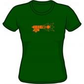 Girlie shirt 'Big Shot' bottle green, all sizes