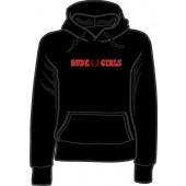 girlie hooded jumper 'Rude Girls - black' all sizes