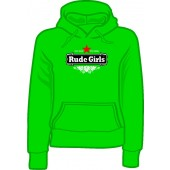 girlie hooded jumper 'Rude Girls - Stay Rude' all sizes