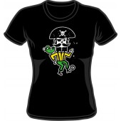 Girlie Shirt 'CHema Skandal! - Treasure Isle Pirate' black - sizes S - XL