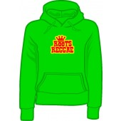 girlie hooded jumper 'Roots Reggae' kelly green, all sizes