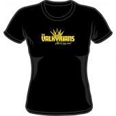 Girlie Shirt 'Valkyrians' black, sizes S - XXL