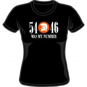 girlie shirt '54 - 46 Was My Number' black - sizes M - XXL