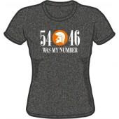 girlie shirt '54 - 46 Was My Number' dark heather grey - sizes M - XXL