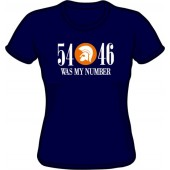 girlie shirt '54 - 46 Was My Number' navy - sizes M - XXL