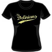 Girlie Shirt 'Delirians' black, sizes small - XXL