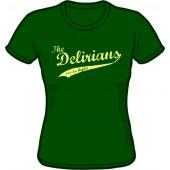 Girlie Shirt 'Delirians' bottlegreen, sizes small - XXL