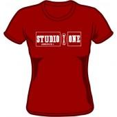 Girlie Shirt 'Studio 1 - Old Logo' burgundy - Gr. S - XXL