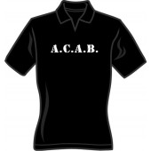 Girlie polo shirt 'A.C.A.B. - with V-Neck' - sizes small, medium, large