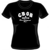 Girlie Shirt 'CBGB' black - Gr. S, M