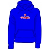 girlie hooded jumper 'Vespa - The Real Scooter' royal blue all sizes