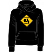 Girlie hooded jumper 'Scooter Crossing' black, sizes small - XL