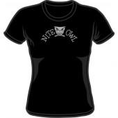 Girlie Shirt 'Nite Owl' black, all sizes