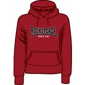 girlie hooded jumper 'Rocksteady Since 1967' burgundy, all sizes