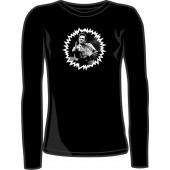girlie long sleeve shirt 'F***finger' black, all sizes