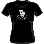Girlie Shirt '666% psychobilly' black, all sizes