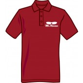 Polo Shirt 'Mr. Review' burgundy, all sizes