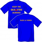 T-Shirt 'Rude & Visser - Keep The Fire - size small'