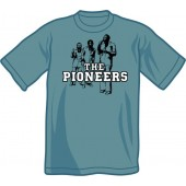 T-Shirt 'The Pioneers' steel blue all sizes