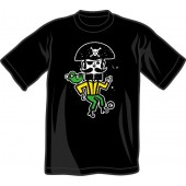 T-Shirt 'CHema Skandal! - Treasure Isle Pirate' black - sizes S - 3XL
