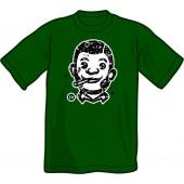 T-Shirt 'CHema Skandal! - Smoking Skinhead' bottle green - sizes S - XXL