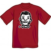T-Shirt 'CHema Skandal! - Smoking Skinhead' burgundy - sizes S - XXL