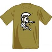 T-Shirt 'CHema Skandal! - Trojan Warrior' olive - sizes S, XXL