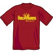 T-Shirt 'Valkyrians' burgundy, sizes S - XXL