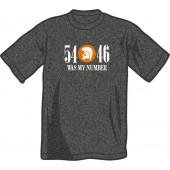 T-Shirt '54 - 46 Was My Number' dark heather grey - sizes S - XXL
