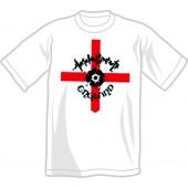 T-Shirt 'Angelic Upstarts - England' white, all sizes