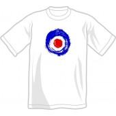 T-Shirt 'Brushed Target' white, all sizes