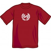 T-Shirt '69' burgundy all sizes
