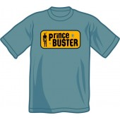 T-Shirt 'Prince Buster' all sizes - steel blue