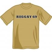 free for orders over 150 €: T-shirt 'Reggay 69' khaki, all sizes
