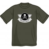 free for orders over 150 €: T-shirt 'Rock'n'Roll' charcoal, Gr. S - XXL