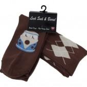 Warrior Socksteady Socks Pack of 2 'Argyle Chocolate Camper' - 2pk