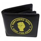 Warrior Black Embossed Wallet - Northern Soul