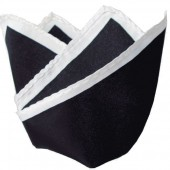 Warrior Skinhead & Mod Pocket Square - Black Satin